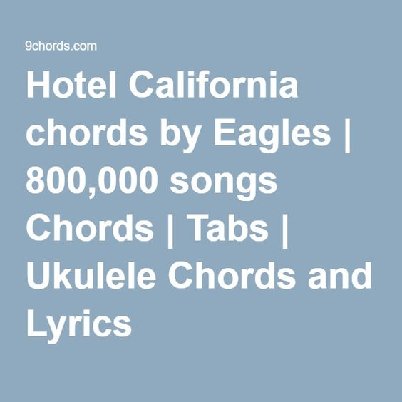 Banjo banjo tabs hotel california : Lyrics, Hotels and Hotel california on Pinterest