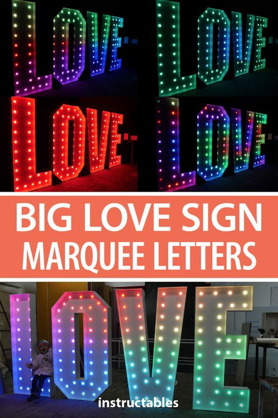 Big Love Sign Marquee Letters Marquee Letters Diy Marquee Letters Light Letters