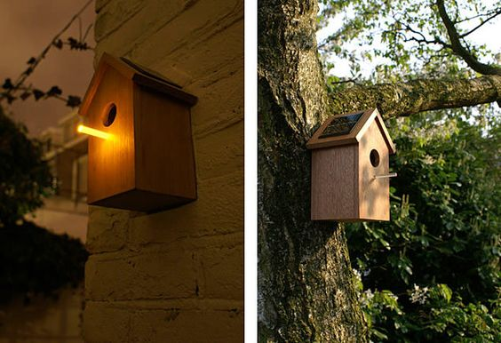 Birdhouse By Emilie Cazin Via Inspire Me Now Green - Cool wooden bird house for apartment inhabitants brirdhouse by vlaemsch