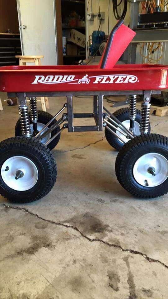 Lifted radio flyer wagon