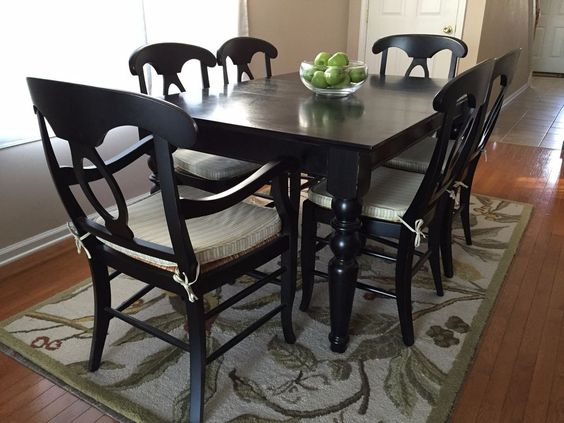 Black Pottery Barn Dining Table Loris Decoration - Pottery barn black dining table