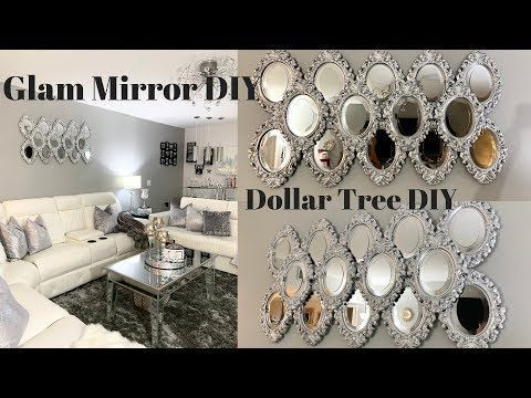 Diy Dollar Tree Wall Decor My Most Favorite Dollar Tree Diy Super Glam Easy Bling Youtube Mirror Wall Art Gold Mirror Wall Metal Tree Wall Art