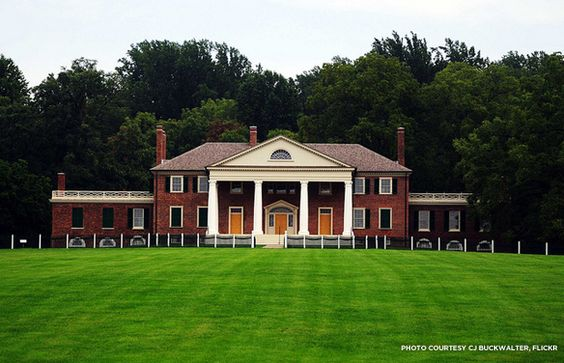 Montpelier's main facade has recently--and magnificently--been restored to its 1797 form.