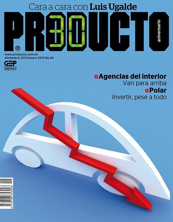 La portada de la revista Producto Diciembre 2012-Enero 2013. La edición está dedicada al sector automotriz