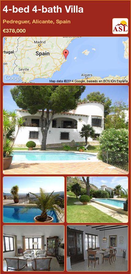 4-bed 4-bath Villa in Pedreguer, Alicante, Spain ►€378,000 #PropertyForSaleInSpain