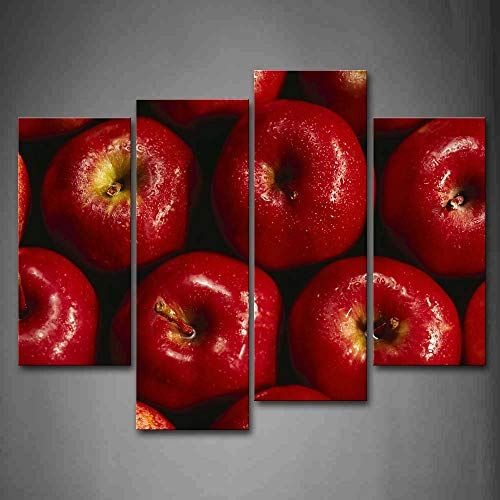 Firstwallart Red Apple With Water Drop Wall Art Painting Pictures Print On Canvas Food The Picture Wall Art Canvas Painting Wall Art Painting Wall Art Pictures