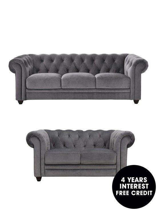 Laurence Llewelyn Bowen Cheltenham 3 2 Seater Fabric Sofa Set Buy And Save Sofa Set Fabric Sofa Sofa