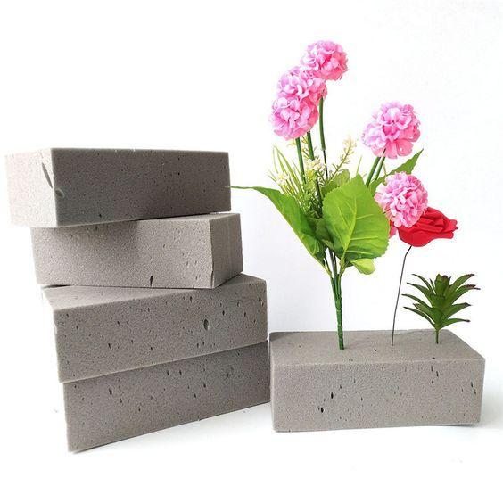 How To Use Floral Foam For Silk Flowers Flowersandflowerthings Flower Arrangements Diy Foam Wedding Flowers Artificial Flowers