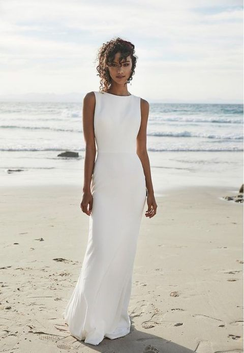 26 Beach Wedding Dresses That Wow Wedding Dresses Simple Elegant Wedding Dress Elegant Wedding Dress