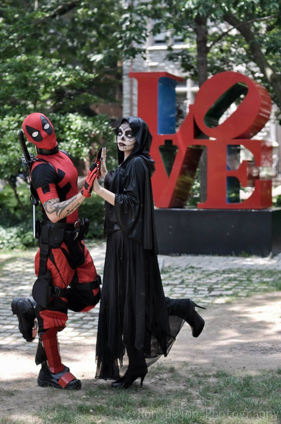 DeadPool and Mistress Death Love by NoxDMartinez.deviantart.com on @deviantART: