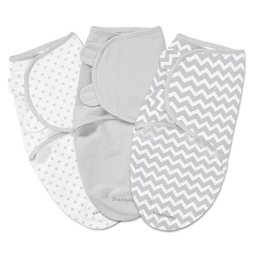 Summer Infant SwaddleMe 3pk Chevron & Stars (SM)