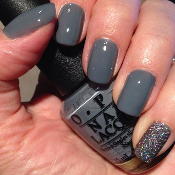 """""""OPI (LE) nail polish in Embrace the Grey! From the Fifty Shades of Grey collection! Only picked one from the collection because I felt like I had similar…"""""""