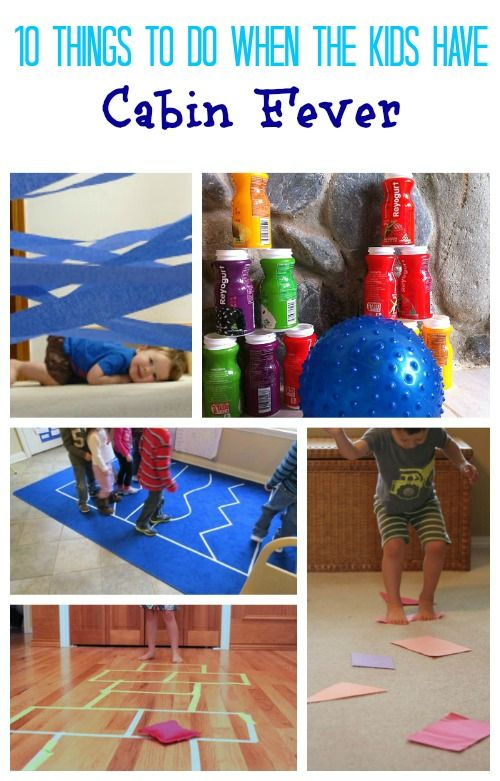 Make these fun indoor games & obstacle courses to let the kids burn off energy when they're stuck indoors!