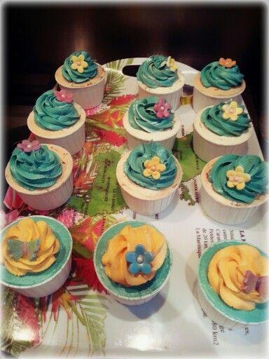 Cupcakes de mango y piña