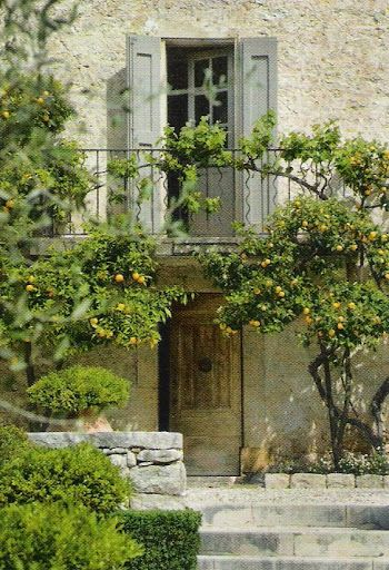 Rustic stone farmhouse exterior European Farmhouse and French Country Decorating Style Photos. #Provence #farmhouseexterior #stone