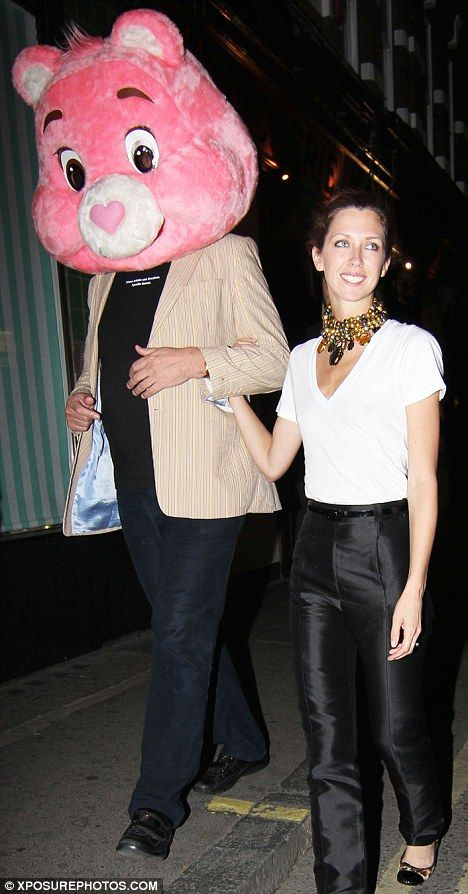 Stephen Fry and Margo Stilley - Giant Care Bear head