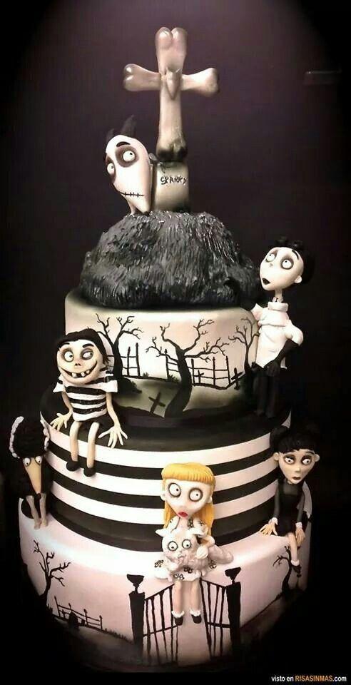 Genial torta estilo Tim Burton: