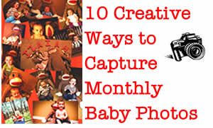 10 creative ideas for capturing monthly baby photos