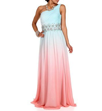 Pre-Order:Cleo-Light Blue/Pink Ombre Prom Dress on Wanelo