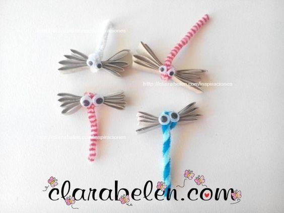 Lib lulas f ciles con limpiapipas y tubos de cart n - Manualidades para ninos faciles y divertidas ...