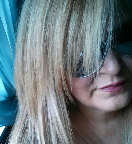 Fall blonde in platinum tones