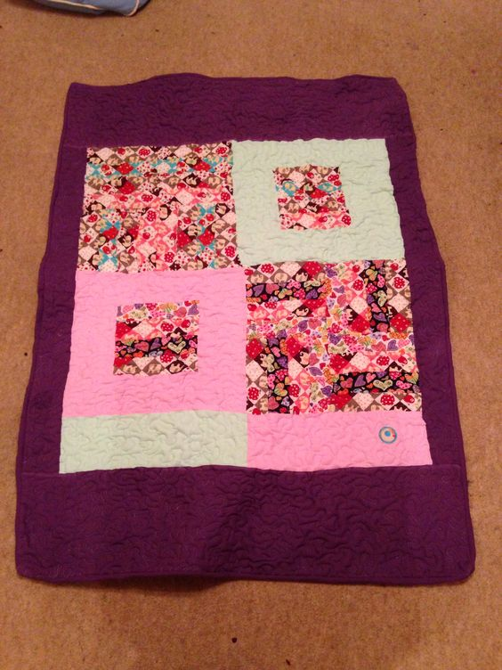"""Free motion """"wiggly"""" quilting. First ever attempt"""