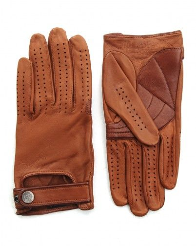 Gants en cuir marron Driving