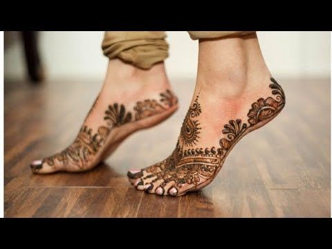 Simple And Easy Mehndi Design 2020 Youtube Henna Designs Feet Foot Henna Legs Mehndi Design