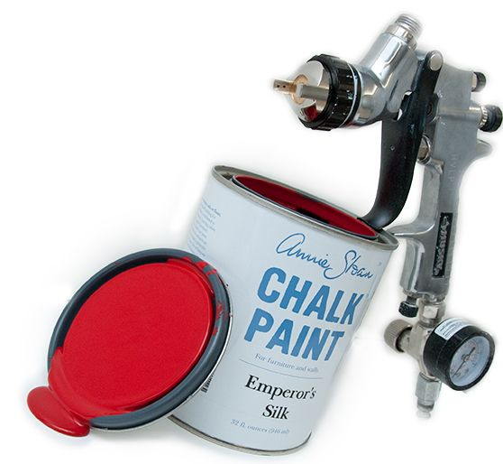 Salvagedinspirations Com Using A Spray Gun W Chalk Paint
