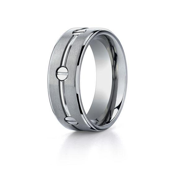 titanium ring | Screw Design Wedding Ring in Titanium