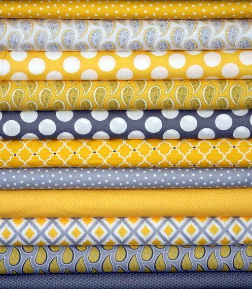 Fat Quarter Fabric Bundle for quilt or craft by fivemonkeyfabrics #Etsy #fabrics Love the color combination!