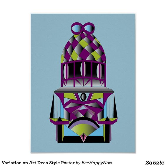 Variation on Art Deco Style Poster