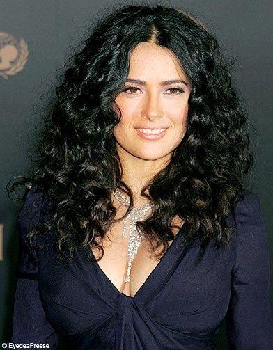 salma hayek curly hair mane ideas pinterest hair
