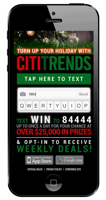 Citi Trends Text-to-Win Promotion