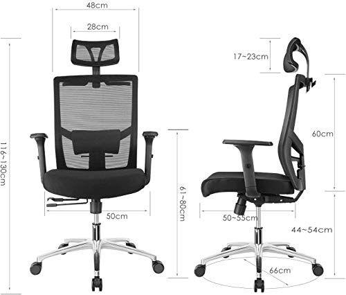 Fixkit Chaise Bureau Ergonomiquechaise Patronaccoudoirsappui Tete Et Hauteur Reglables 65 Inclinerotation A 360 Respir En 2020 Chaise Bureau Chaise Ergonomique Chaise