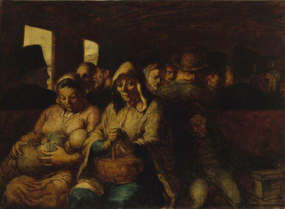 'The Third-class Railway Carriage (Un wagon de troisième classe)', Honoré Daumier, 1862-1864