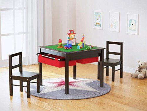 Utex 2in1 Kids Multi Activity Table And, Lego Table With Chairs And Storage