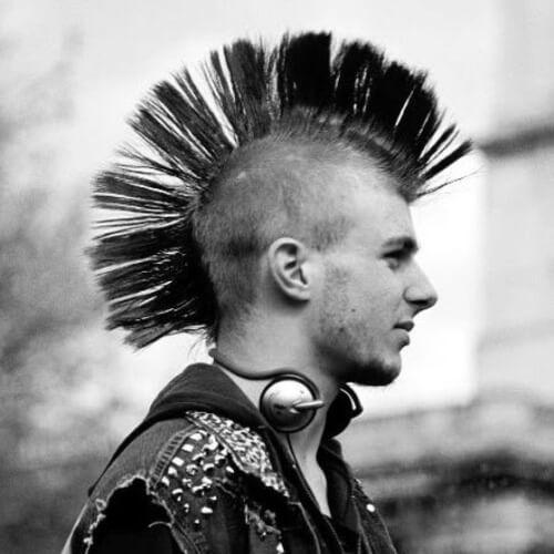 Largo Peinados Peinados Largos E Ideas Para El Peinado Punk Haircut Rock Hairstyles Mohawk For Men