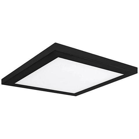 Platter 13 Square Black Led Outdoor Ceiling Light 61x62 Lamps Plus Ceiling Lights Outdoor Ceiling Lights Flushmount Ceiling Lights