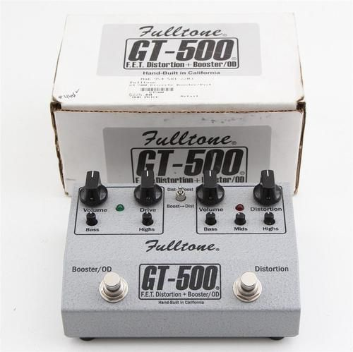 Fulltone GT 500 Distortion Overdrive Boost Guitar Effects Pedal
