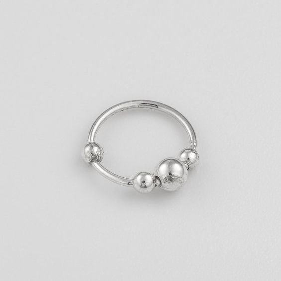 Sterling silver nose ring. silver nose ring. by Umanativedesign