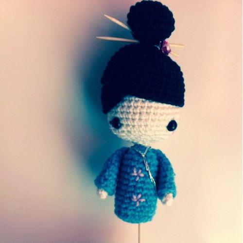 Amigurumi Free Pattern For Beginners : Amigurumi Kokeshi Doll - FREE Crochet Pattern / Tutorial ...