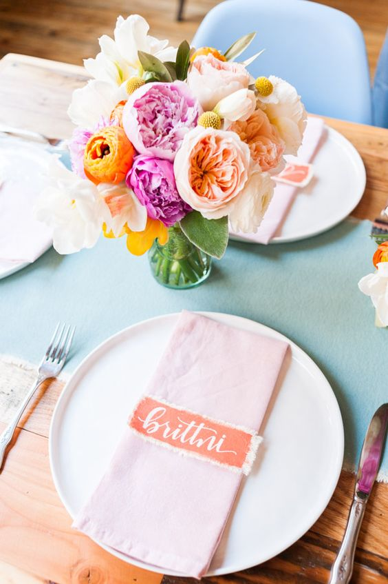 A Blogger Bunch for a Spring Brunch: Canvas, and Flowers, and Parfaits...Oh My! - Paper and Stitch: