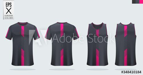 Download T Shirt Mockup Sport Shirt Template Design For Soccer Jersey Football Kit Tank Top For Basketball Jersey Or Ru Running Singlet Sports Shirts Sports Uniforms
