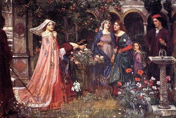 John William Waterhouse, The Enchanted Garden, 1916-1917: