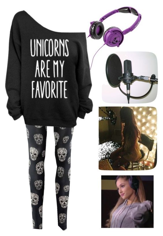"""""""Studio w/ Ariana Grande"""" by miksong ❤ liked on Polyvore featuring Skullcandy"""