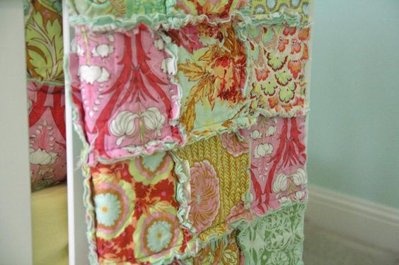 rag quilt with cotton