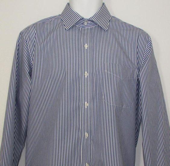 Ralph Lauren Dress Shirt Slim Fit Non Iron 100% Cotton Stripped sz 16 X 34 / 35 #LaurenRalphLauren