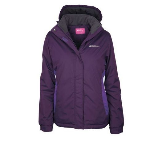 SIZE 18 & 20 ONLY Moon Womens Snowproof Hooded Fleece Lined Snowboarding Jacket NOW £14.99