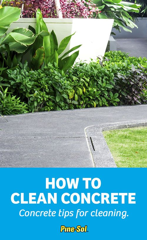 Get tips on how to clean concrete floors use pine sol to for How to clean your concrete garage floor
